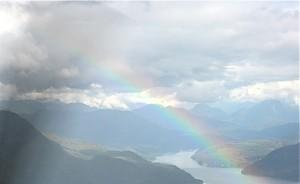 rainbow over knight inlet