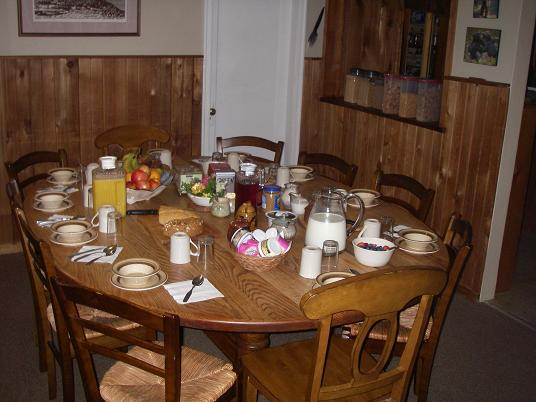 breakfast at Grizzly Bear Lodge