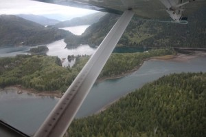 Floatplane over Vancouver Island
