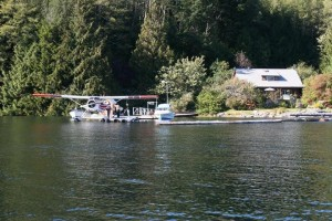 floatplane at grizzly bear lodge