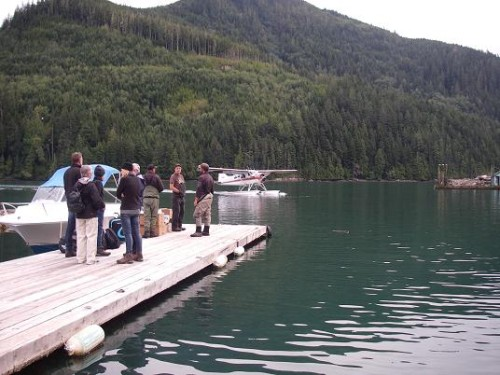 float plane with guests